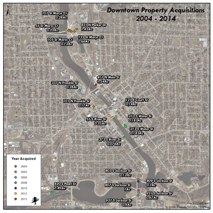 Downtown Acquisitions Map